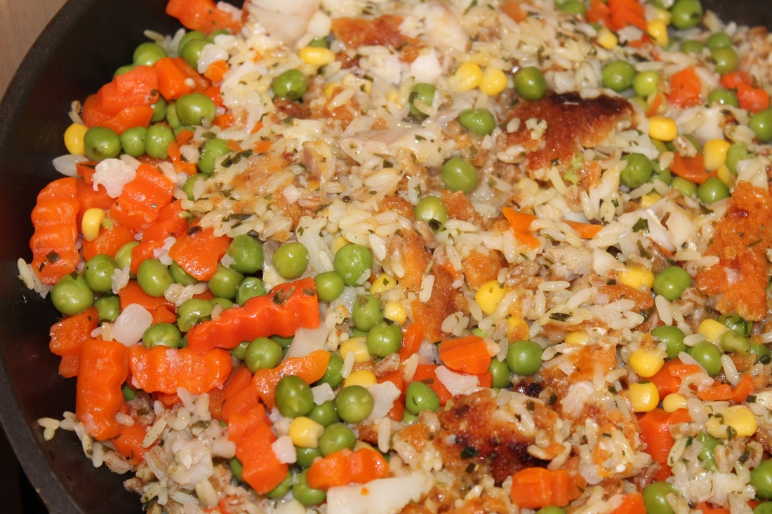 Vegetable Fried Rice with Peas and Carrots